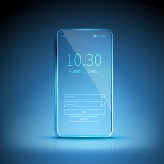Imagem de smartphone transparente