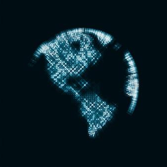 Imagem de tecnologia do mapa do globo da terra