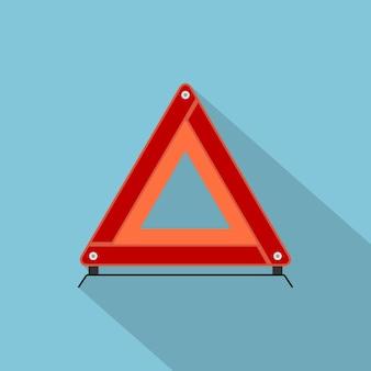 Imagem de um sinal de parada de emergência para automóveis, ícone de estilo