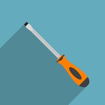Imagem de uma chave de fenda, ícone de estilo