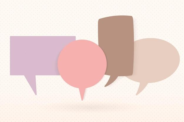 Imagem de vetor de bolha de discurso fofa, design plano pastel