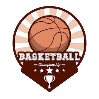 Imagem do selo do campeonato de esportes de basquete