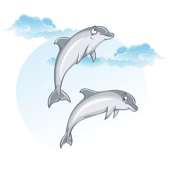Imagem dos desenhos animados de golfinhos.