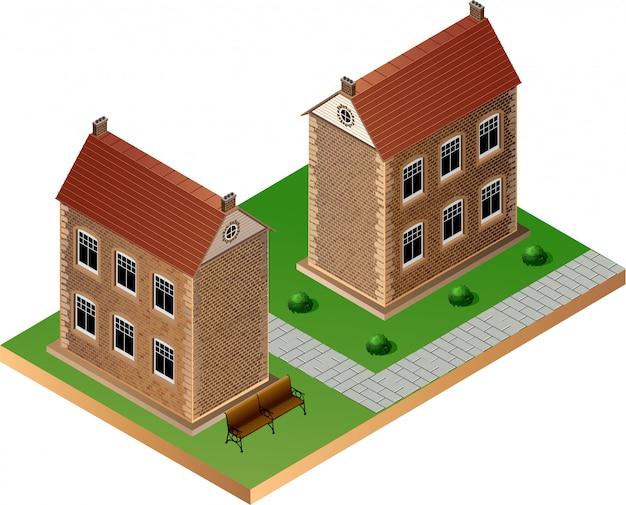 Imagem estilizada de um edifícios antigos
