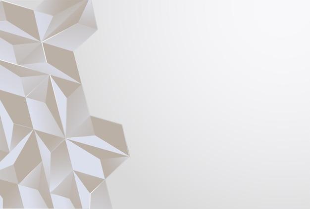 Imagem ilustração triangular abstrato geométrico fundo cinza