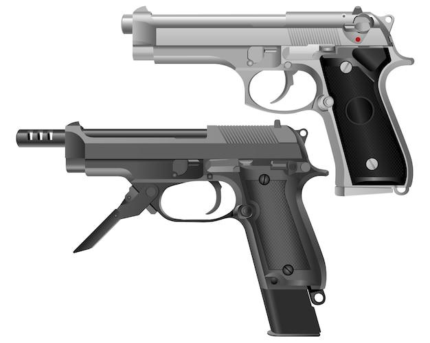 Imagem realista da pistola moderna