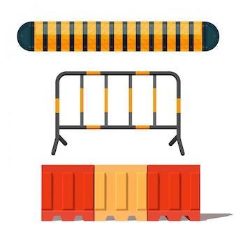Imagem realista de uma barreira na estrada