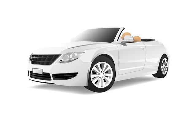 Imagem tridimensional do carro isolado no fundo branco