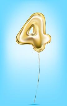 Imagem vetorial de alta qualidade de números de balão de ouro