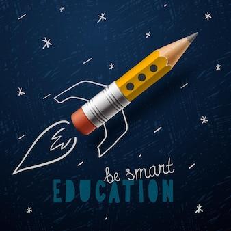 Imagem vetorial de conceito de educação de volta à escola