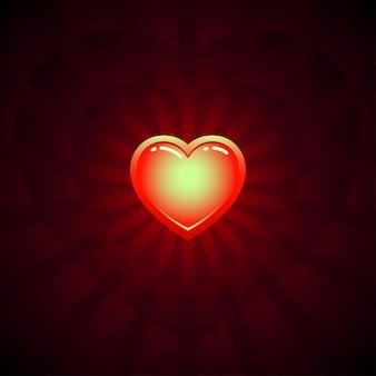 Imagem vetorial de coração de brilho