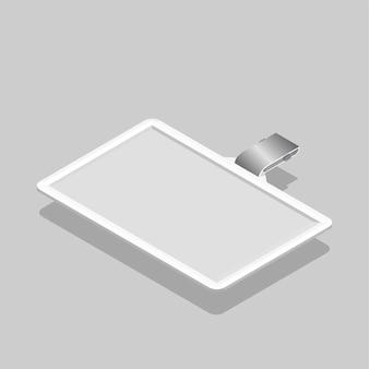 Imagem vetorial de ícone do cartão de identificação