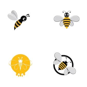 Imagem vetorial de logotipo animal de abelha do favo de mel