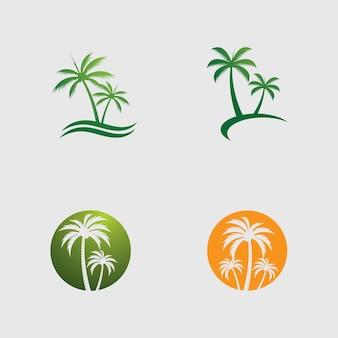 Imagem vetorial de modelo de logotipo de palmeira