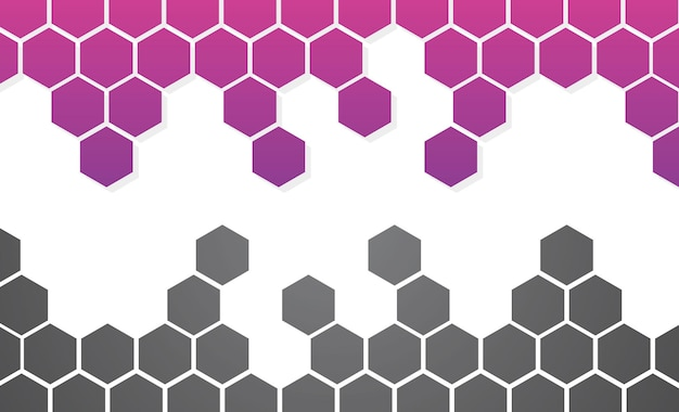 Imagem vetorial de papel de parede de fundo de favo de mel