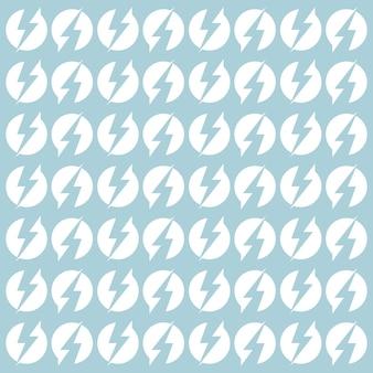 Imagem vetorial de raio de padrão sem emenda