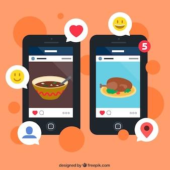 Imagens app mídia social