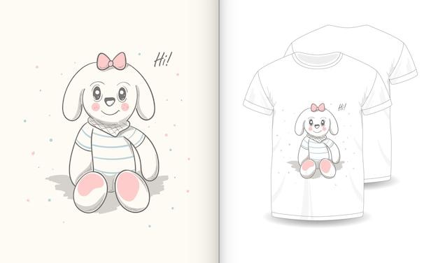 Imagens de animais fofos com t-shirt para o bebê.