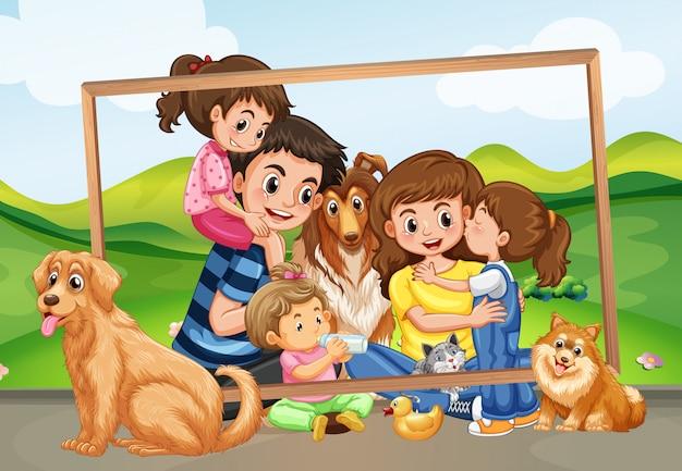 Imagens de família feliz na natureza