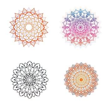 Imagens de ilustração vetorial de mandala de flores
