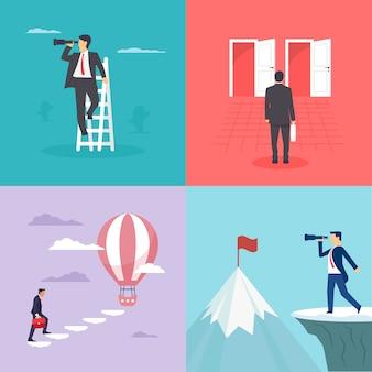 Imagens de negócios ou ilustrações de oportunidades