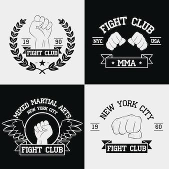 Imagens do fight club para conjunto de camisetas da cidade de nova york mma mixed martial arts
