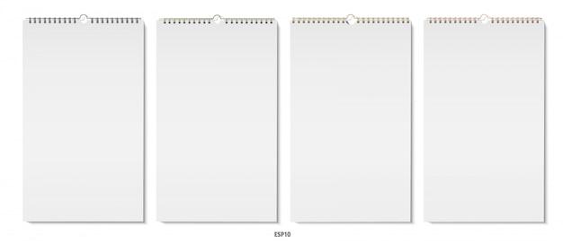 Imagens realistas de cadernos verticais com espirais.