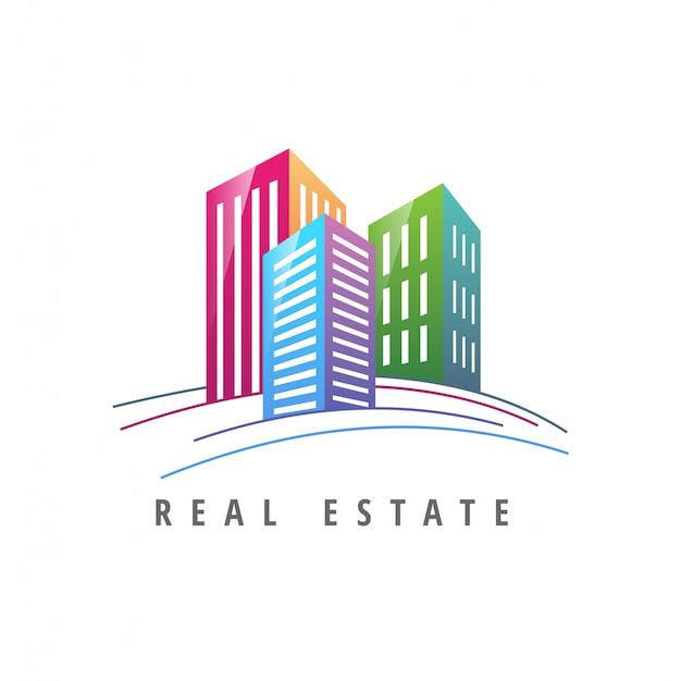 Imobiliária de modelo de logotipo