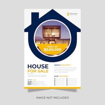 Imobiliário casa property flyer design premium vector