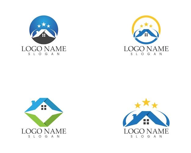 Imobiliário e construção de modelo de logotipo em casa