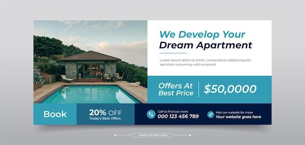 Imobiliário modelo de capa de fotos de capa do facebook