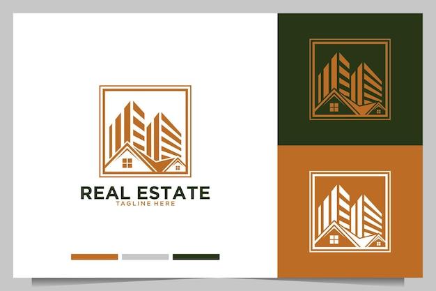 Imóveis com design de logotipo para casa e cidade