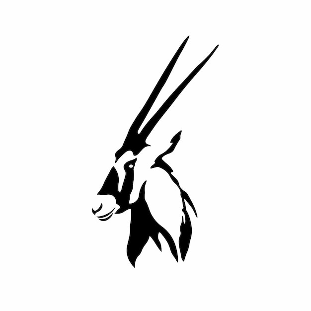 Impala symbol logo tattoo design stencil ilustração em vetor