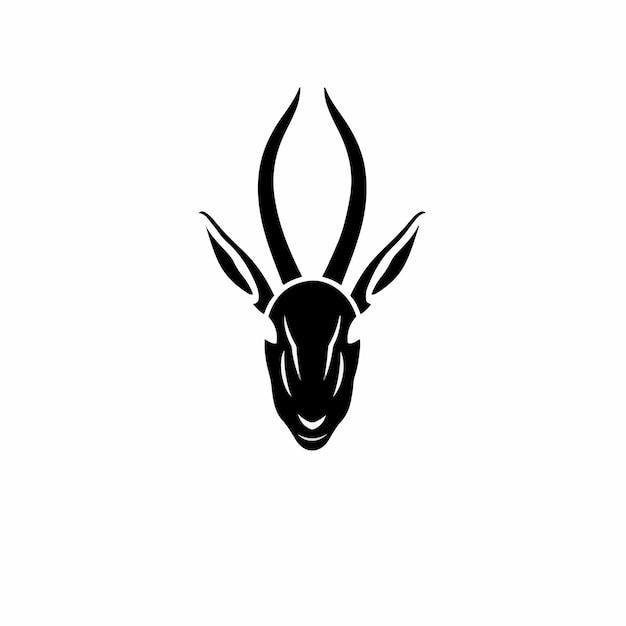Impala symbol logo tattoo design stencil ilustração em vetor Vetor Premium
