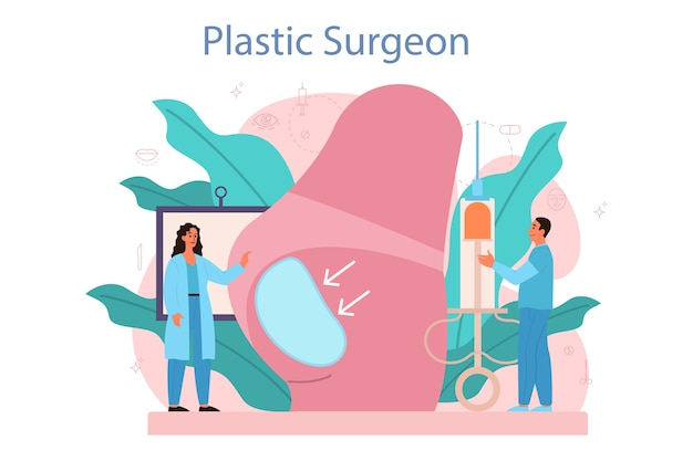 Implante e lipoaspiração hospitalar e procedimento anti-envelhecimento