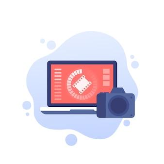 Importação de vídeo da câmera para o laptop
