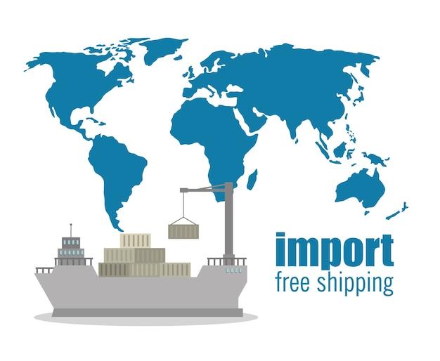 Importação frete grátis marítimo