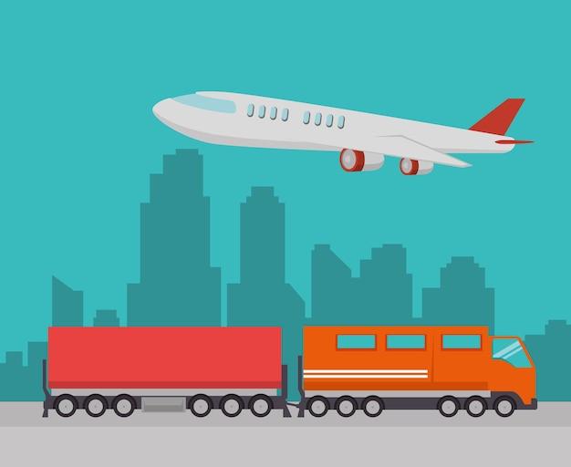 Importação frete grátis trem e avião