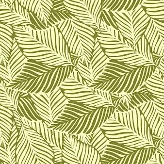 Impressão abstrata da selva de ouro. planta exótica. padrão tropical, folhas de palmeira de fundo floral vetor sem emenda.