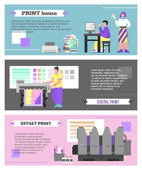 Impressão de banners de serviço de impressão offset