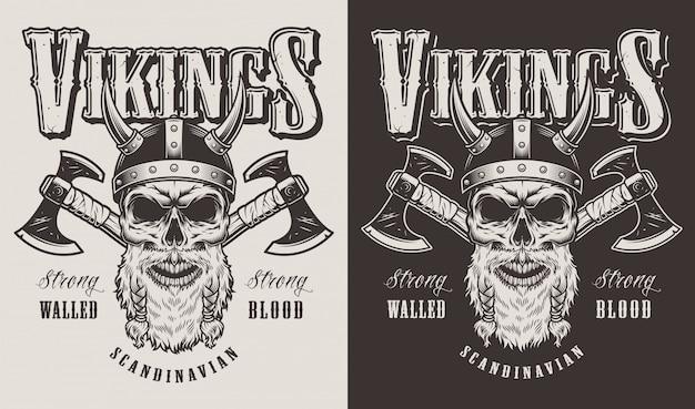 Impressão de camiseta com cabeça viking