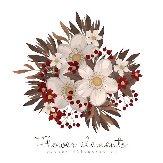 Impressão de camiseta de flor vermelha clipart