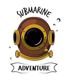 Impressão de capacete de mergulho para camiseta
