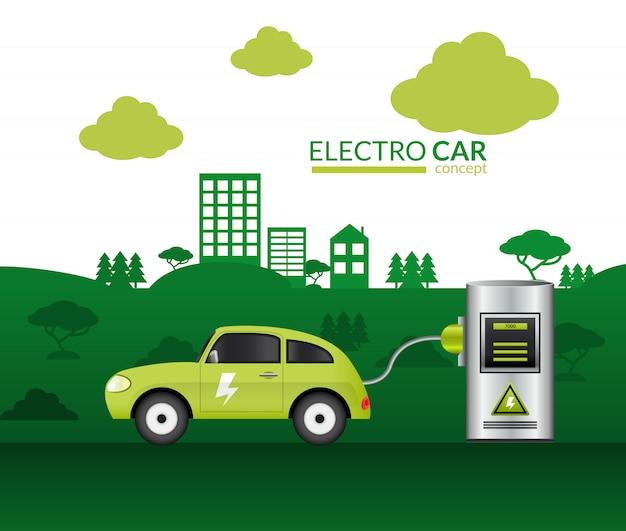 Impressão de carro elétrico