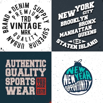Impressão de design vintage para carimbo de camiseta