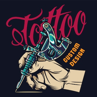 Impressão de estúdio de tatuagem vintage