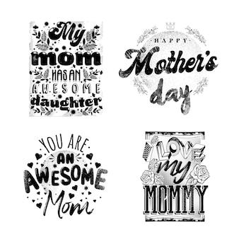 Impressão de frases do dia das mães na embalagem