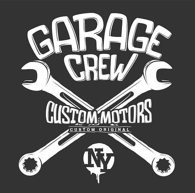 Impressão de garagem, gráfico de chaves cruzadas.