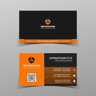 Impressão de modelo de cartão de negócios corporativo profissional pronto