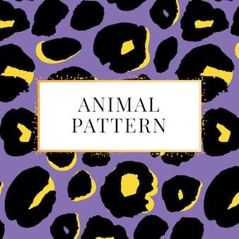Impressão de padrão leopardo sem emenda